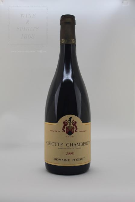 Griotte Chambertin 2008 Domaine Ponsot Bourgogne