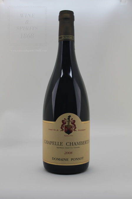 Chapelle Chambertin Grand Cru 2008 Domaine Ponsot Bourgogne