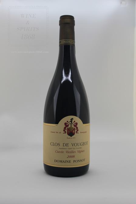 Clos De Vougeot Vieilles Vignes 2008 Domaine Ponsot Bourgogne